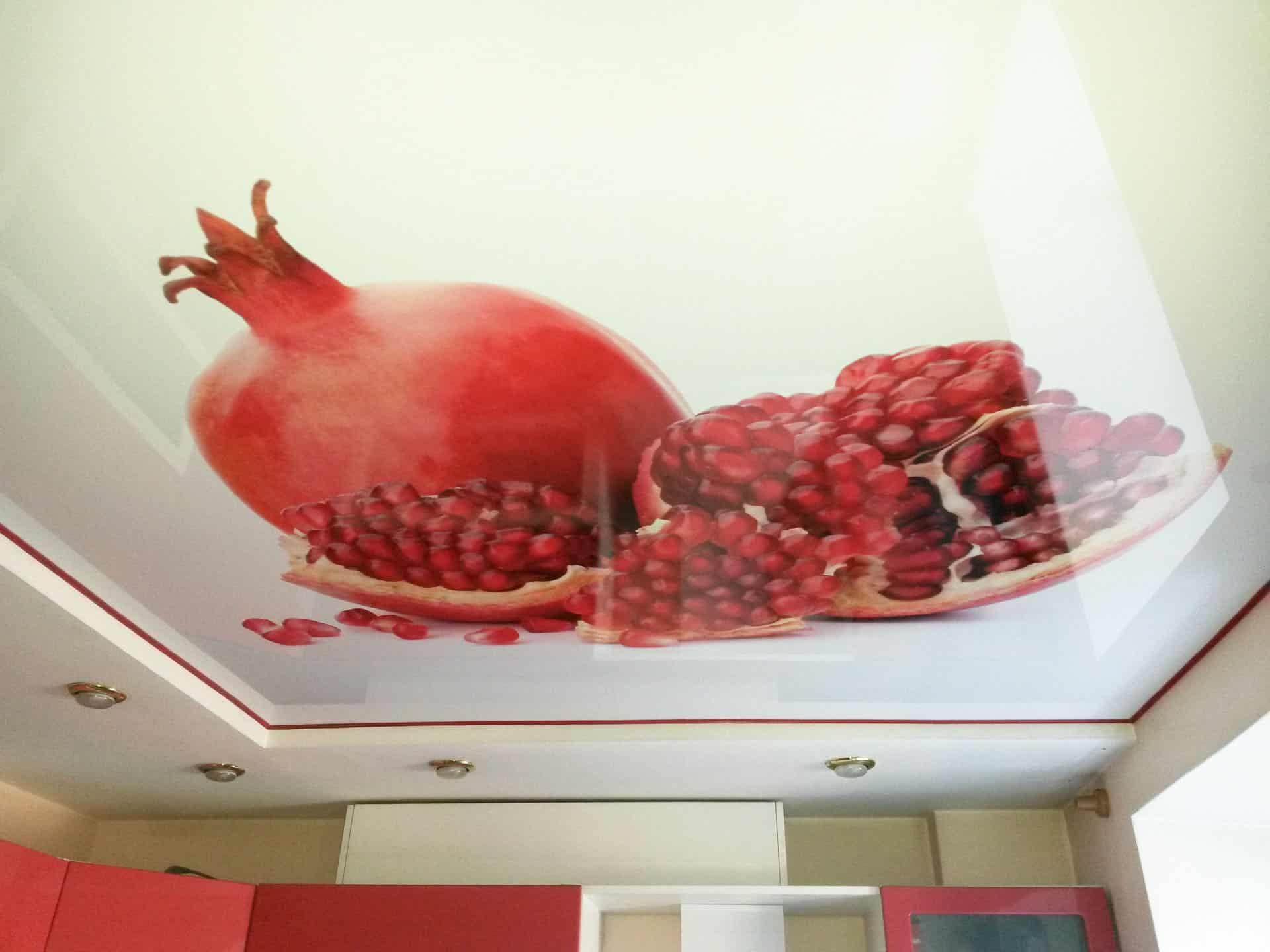 пример фотопечати на натяжном потолке